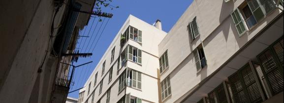 Façana exterior de diversos edificis